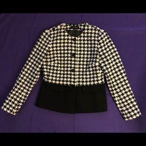 Black & White Houndstooth Jacket Talbots